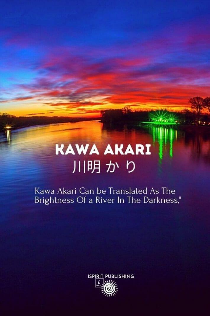 Kawa Akari 川明 か り-Japanese poetic words