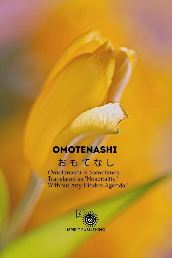 Omotenashi お も て な し-Japanese Poetic emotional words