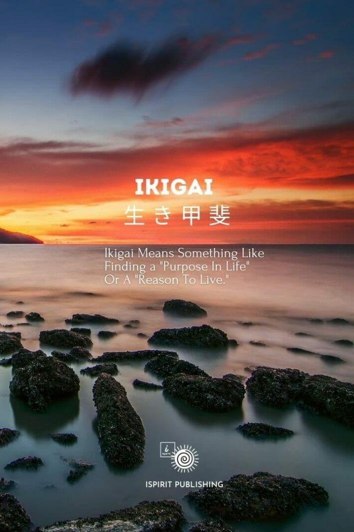 Ikigai 生 き 甲 斐-Soul inspired Japanese word